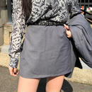 Gray Mini Skirt
