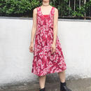 Used flower dress red