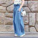 #襟ヌキシャツコーデしたいウエストギャザーワイドパンツ 品番:1117005 カラー:サニー