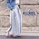 #ボーダーTにハマるフレアスカーチョ 品番:1117003 カラー:クラウド