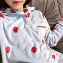 strawberry pajama / blue