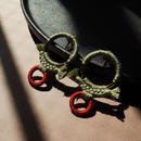 rope pierce/earrings BOTANICAL GREEN