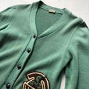 -60s Broadway Knit Mills Lttered Cardigan