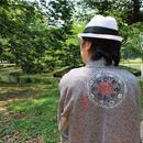 <TUTAE> Haori1008  black tie-dyed fabric