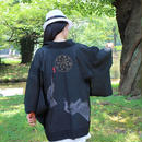 <TUTAE> Haori1018 (for summer)  black with peacocks