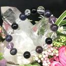 癒しと浄化 スギライトとモリオンとアメジストと水晶のブレスレット