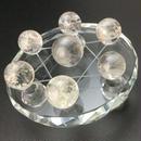 天然水晶丸玉(約14.5㎜~約18㎜) 七星盤(ガラス製) セット