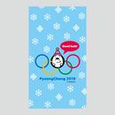 【PyeongChang 2018(応援vol.1)】(Blue Ver.) スマホ用壁紙(1080×1920)