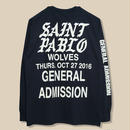 「SAINT PABLO TOUR」WOLVES LONG SLEEVE T-SHIRT / BLACK (送料込み)