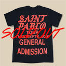 「SAINT PABLO TOUR」T-SHIRT / BLACK (送料込み)