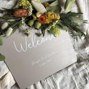 【WELCOME】welcomebord  gray- square