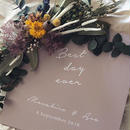 【BEST DAY EVER】welcomebord  smoky pink- square
