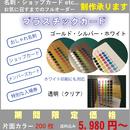 片面カラー プラスチックカード・名刺200枚 5,980円~