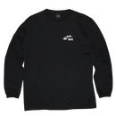 """Chillin Chillin"" Long Sleeve Tee (Black)"