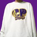 【クレイジーパープル】クレイジーパープルレコードロゴトレーナー