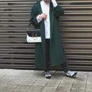 hooded river coat (deep green)