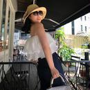 【トレンドアイテム】女優の休日プリーツベアトップ【肌が美しく魅せる光沢】☆パーティーやイベントにオススメ☆