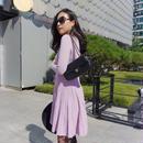 春のイベントに!【〜163cmの方にオススメ!】ハリウッドラップドレス【ラベンダーピンク】