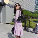 【〜163cmの方にオススメ!】ハリウッドラップドレス【ラベンダーピンク】