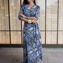 シチリアマダムのグラン・ブルーラップドレス