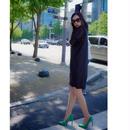 【ラグジュアリーライン】【GRACE ORIENTALmade】女王シースルースリーブDRESS(ブラック)春夏ver   【美形シルエット】