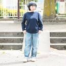*ユニセックス*Le minor by DAILY WARDROBE INDUSTRY★デイリーワードローブインダストリー★7day's Series バスクシャツ NAVY(WEDNESDAY)