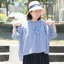 *レディース*【h】yumi sakurai★(アッシュ)ユミサクライ★ふんわり5分袖ブラウス(ストライプ)