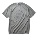 SURF IN CAL CIRCLE Pigment Dyed Tee【Gray】
