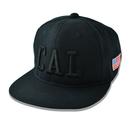 CAL.WEST COAST Flat Visor Cap【Black × Black】