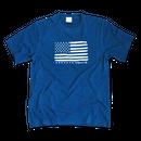 The American flag  Tee  【 Light Indigo】