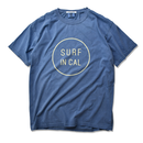【予約商品7月下旬発送】SURF IN CAL CIRCLE Pigment Dyed Tee【Blue Jean】