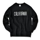 CALIFORNIA logo  heavy weight crewneck sweatshirt【Black】
