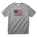 The American flag  Tee  【Gray】
