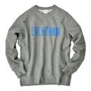 CALIFORNIA logo  heavy weight crewneck sweatshirt【Gray】