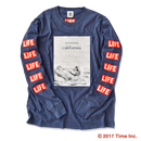 YouthFUL SURF × LIFE Long Sleeve Tee【Navy】