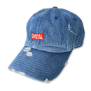 GMCAL Box Logo Damage Cap【Medium Denim】