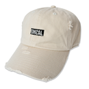 GMCAL Box Logo Damage Cap【Stone】