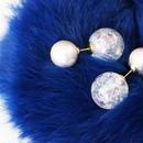 cottonpearl×auroraballcatch pierce