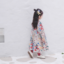 【予約商品】レトロ 花柄 フレアワンピース