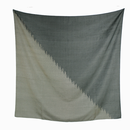 結城のスカーフ 絣 陰と陽 54333-80OBBLK