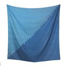 結城のスカーフ 絣 夜明けの海 54334-80OBBLE