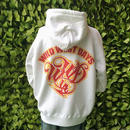 WWD zip hood / WWD LA BACKPRINT (Color: White / Green)