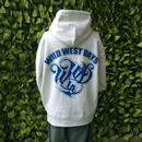 WWD zip hood / WWD LA BACKPRINT (Color: White / Blue)