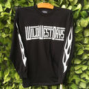 WILDWESTDAYS  Long Sleeve Tee / Fire (Color: Black)