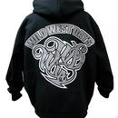WILDWESTDAYS  zip hood / WWD LA BACKPRINT (Color: Black / Gray)