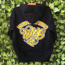 WILDWESTDAYS zip hood / WWD LA BACKPRINT (Color: Black / Yellow)