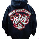 WWD zip hood / WWD LA BACKPRINT (Color: Navy / Red)