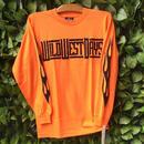 WILDWESTDAYS  Long Sleeve Tee / Fire (Color: neon orange)