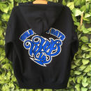 WILDWESTDAYS zip hood / WWD LA BACKPRINT (Color: Black / Blue)