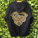 WILDWESTDAYS  zip hood / WWD LA BACKPRINT (Color: Navy / Brown)